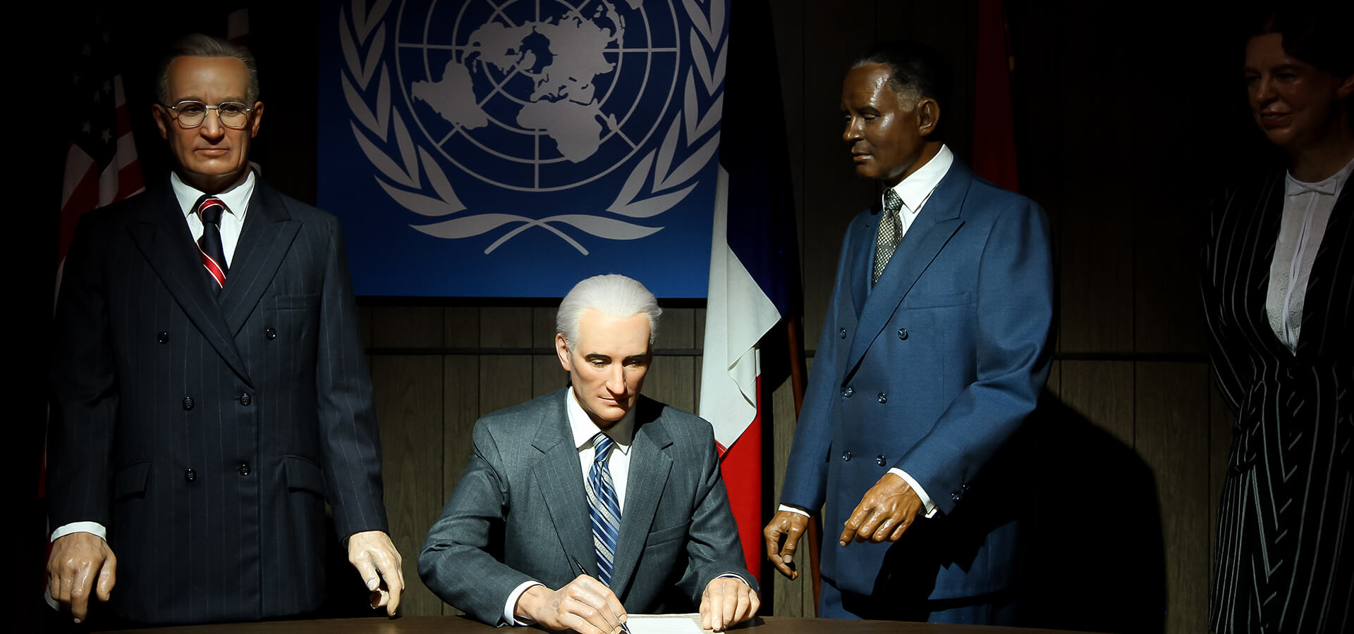 Harry S. Truman and the signing the United Nations Charter.